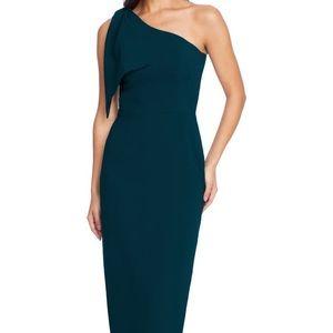 NWOT crepe one shoulder dress